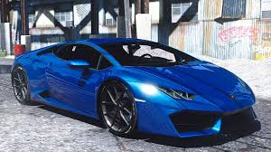 Lamborghini Huracan Blue - lamborghini huracan lp580 2 add on replace gta5 mods com