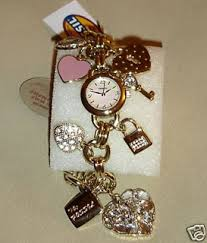 anne klein charm bracelet watches images Gold charm bracelet watch bracelets jewelry jpg