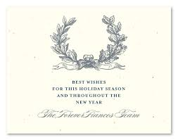 christmas business cards on seeded paper antique wreath by green