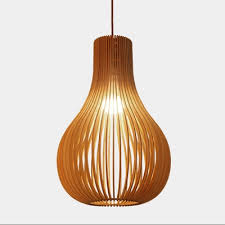 Wood Pendant Light Fixture Fashion Wooden Pendant Light Hollow 15 U0027 U0027 Beautifulhalo Com