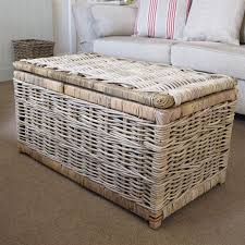 Wicker Storage Ottoman Coffee Table Storage Leather Ottoman Ottoman Coffee Table Rattan