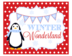 5 best images of winter wonderland invitations printable free