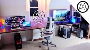 Gaming Desktop Desk by Ultimate 15 000 Gaming Setup Desk Tour 2017 Youtube