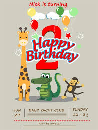 Birthday Card Ai Birthday Card Vector Illustration With Cute Animals Free Vector In