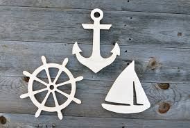 nautical wood cut outs wood cutouts wood cut outs 3 pieces