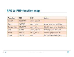 php array map php arrays for rpg programmers
