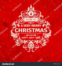 Wishing You A Very Retro by Vintage Retro Grange Trendy Merry Christmas Stock Vector 354833009