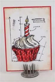 tim holtz blueprints stamps card by naomi cox www craftqueen com