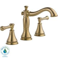 shop delta cassidy champagne bronze 2 handle widespread watersense