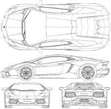 sketch of lamborghini gallardo lamborghini aventador blueprint buscar con cars and