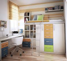 Space Loft Bed With Desk Bedroom Bunk Bed With Closet At Bottom As Holder Of The Bunk Bed