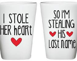 his and hers wedding gifts i stole heart mug i m stealing his last name