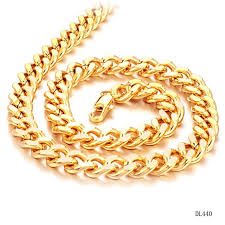 new collection gold necklace images Fate love new collection luxury gold color thickness chain for man jpg
