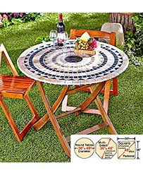 Mosaic Patio Furniture by Amazon Com Mosaic Custom Fit Table Covers Blue Mosaic Patio