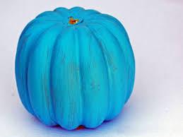 a pretty painted pumpkin centerpiece hgtv