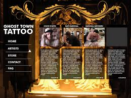 ghost town tattoo website on scad portfolios