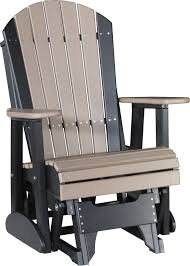 Gliding Adirondack Chairs Luxcraft Poly 2ft Adirondack Style Glider Chair Swingsets