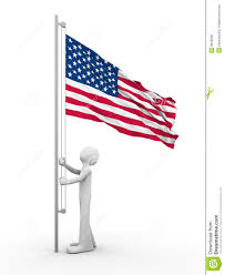 Soldiers Lifting Flag Us Flag Raising Ceremony Stock Illustration Image Of Blue 9819328