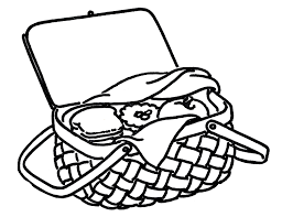 thanksgiving food basket clipart black and white collection