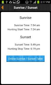 Sunrise Sunset Table Ihunter Alberta 2 0 21 Apk Download Android Sports Games