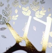 metallic personalised family tree christmas gift print by allihopa