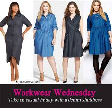 workwear wednesday take on casual friday with plus size denim