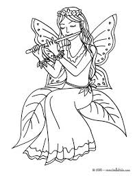 fairy playing flute coloring pages hellokids