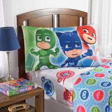 pj masks u0027on our way u0027 bedding sheet set walmart com