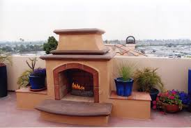 spanish style custom fireplace design in orange county california