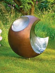 contemporary garden sculpture outdoor sculpture metal garden