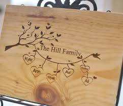 how to engrave a cutting board personalized cutting board family names custom engraved gift
