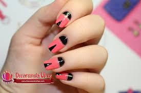 figuras geometricas uñas uñas decoradas con formas geométricas video tutorial paso a paso