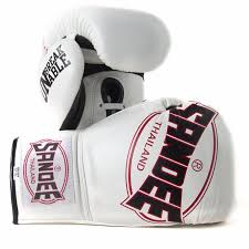 cool tech lace up fight gloves white