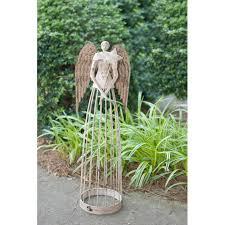 garden angel roman inc garden angel with cross statue u0026 reviews