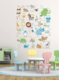 Alphabet Wall Decals For Nursery Abc Wall Decal Animal Alphabet Decal Nursery By Wallartdesign