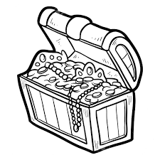 chest clipart black and white collection