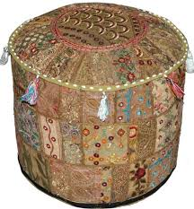 home accessory pouf patchwork pouffe moroccan ottoman bean bag