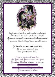 Halloween Wedding Photos by Tips For Choosing Halloween Wedding Invitations