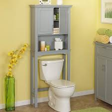 Over The Toilet Bathroom Storage by Amazon Com Spacesaver Over Toilet Cabinet In Gray Home U0026 Kitchen