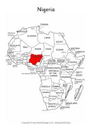 map of nigeria africa nigeria on map of africa