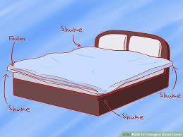 What Do You Put Inside A Duvet How To Change A Duvet Cover 11 Steps With Pictures Wikihow
