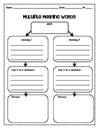 this is a graphic organizer created for second grade students to
