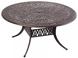 60 In Round Dining Table Amazon Com Elizabeth Outdoor Patio 60
