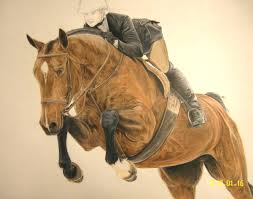 decor the horse rider for horse artwork ideas with modern home