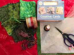 stitched collage ornament cards weallsew