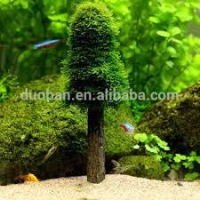 aquarium artificial moss tree fish tank simulation