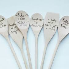 personalized spoons custom kitchen spoons personalized kitchen gifts wood burned