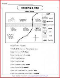 printable map key my neighborhood map math worksheets worksheets and math
