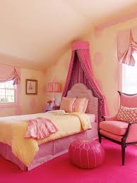 Pink Girls Bedroom Graceful Princess Bedroom Design Offer Beauty Canopy Bed Style
