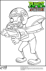 plants vs zombies football zombie coloring pages about plants vs